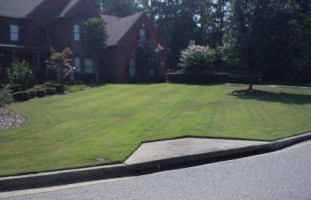 a house with well-maintained lawn